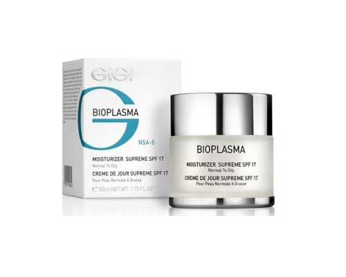 GIGI Bioplasma Moisturizer Supreme SPF17 for Normal to Oily Skin 50ml